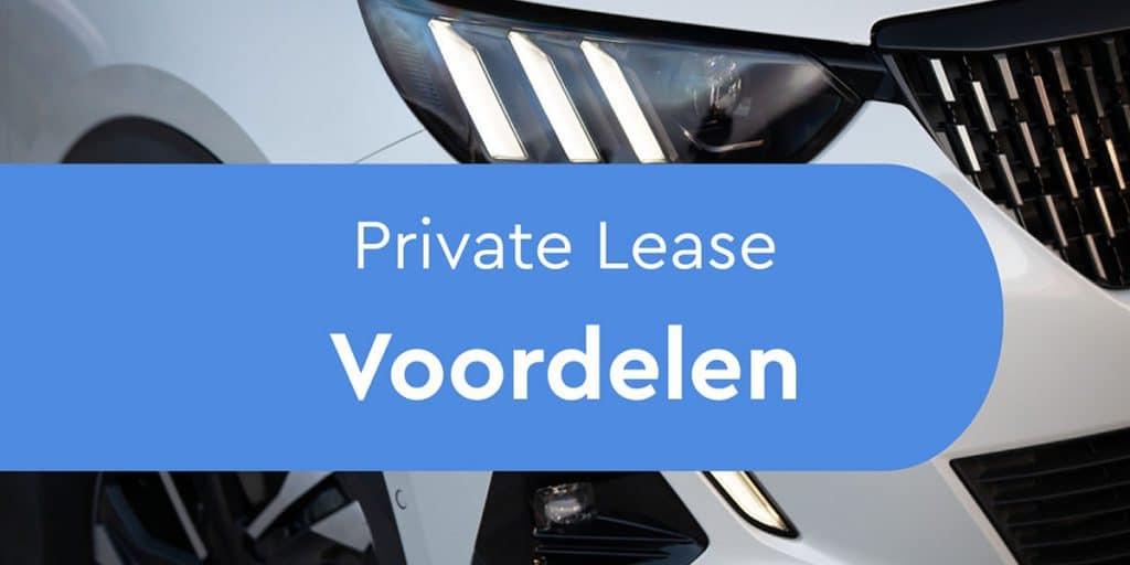 Voordelen Private Lease