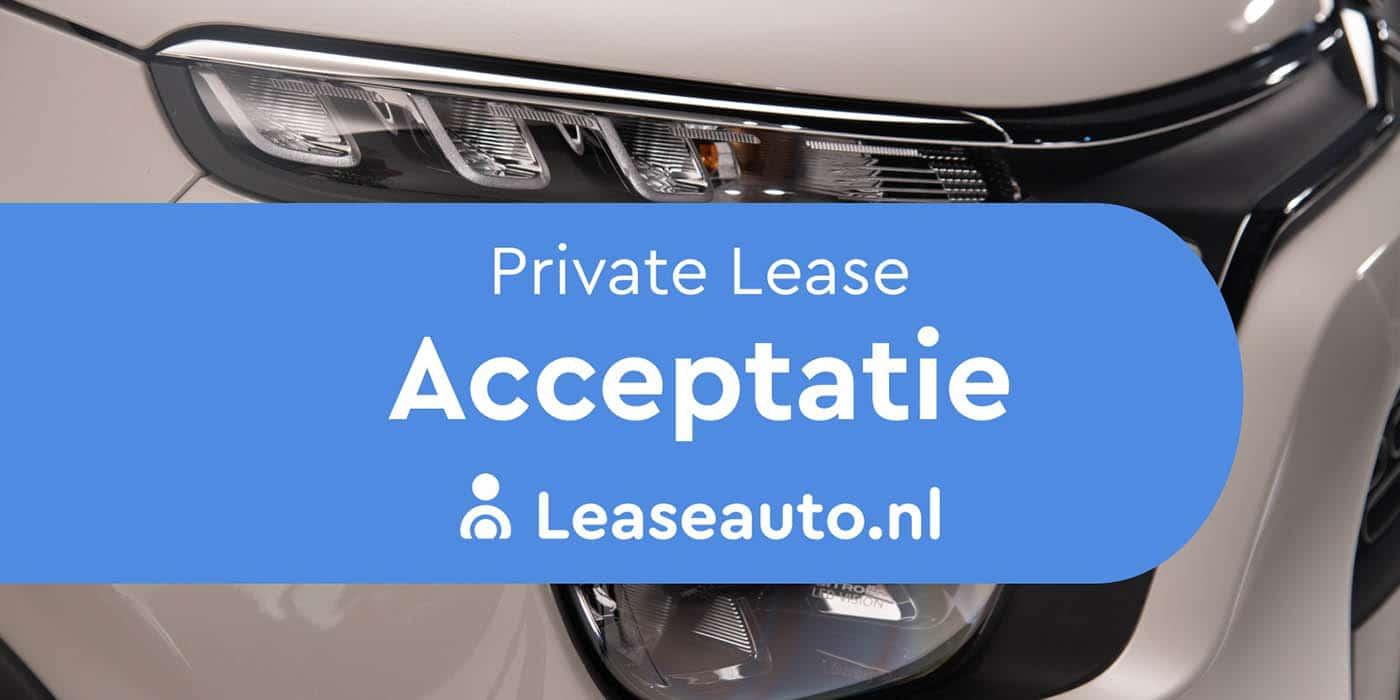 private lease acceptatie