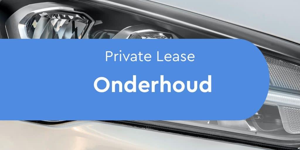 private lease onderhoud