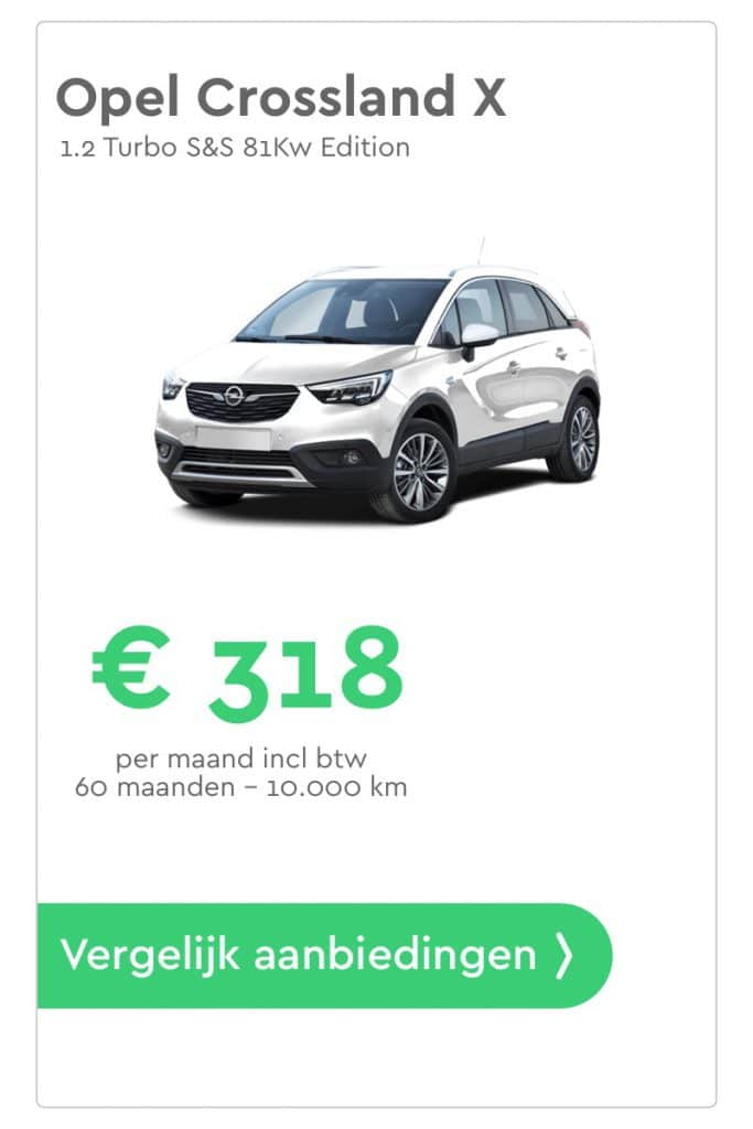 opel crossland x private lease aanbieding