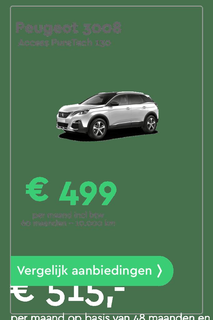 Peugeot 3008 Private Lease Aanbieding