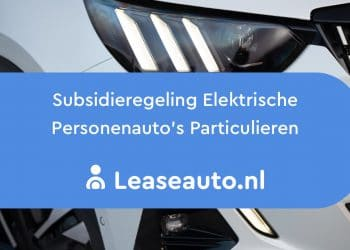 Subsidieregeling elektrische personenauto's particulieren