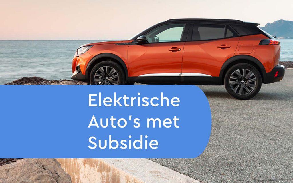 Elektrische Auto met subsidie