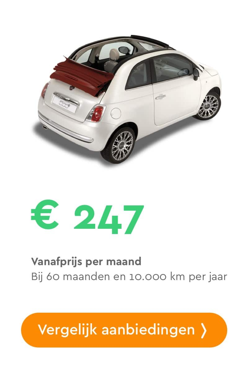 Fiat 500c private lease aanbieding
