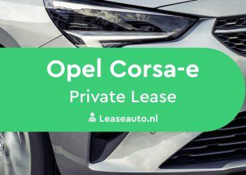 Opel Corsa-e private lease