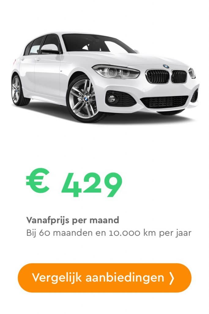 bmw 1 serie private lease aanbieding