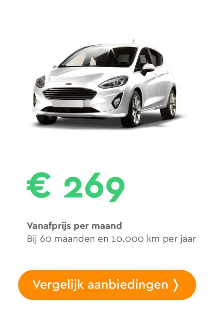 ford fiesta private lease aanbieding