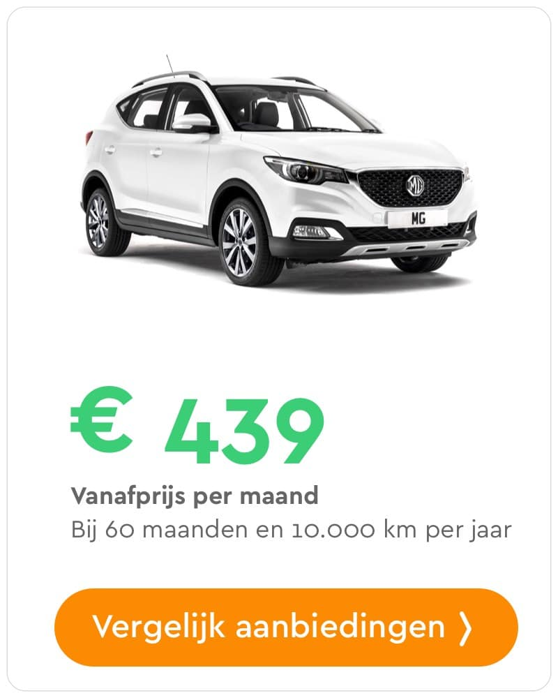 mg gs private lease aanbieding