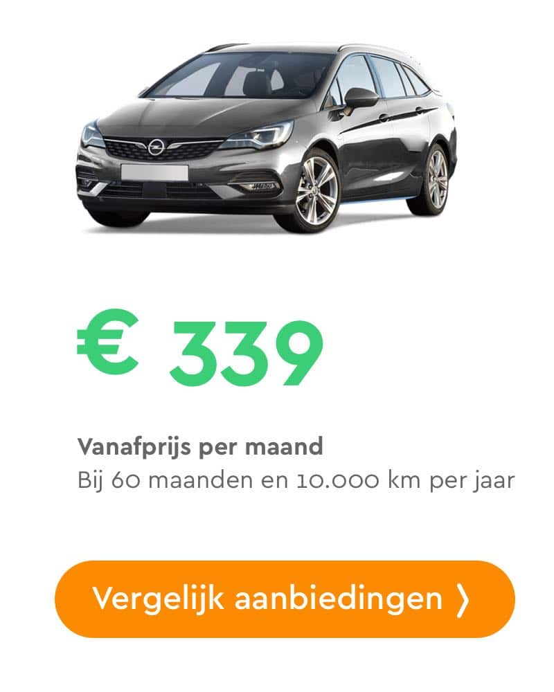 opel astra sports tourer private lease aanbieding