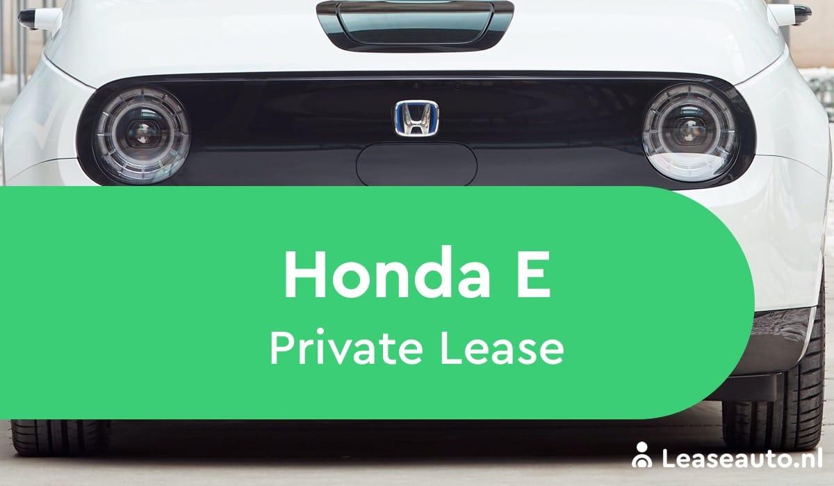 Honda E private lease