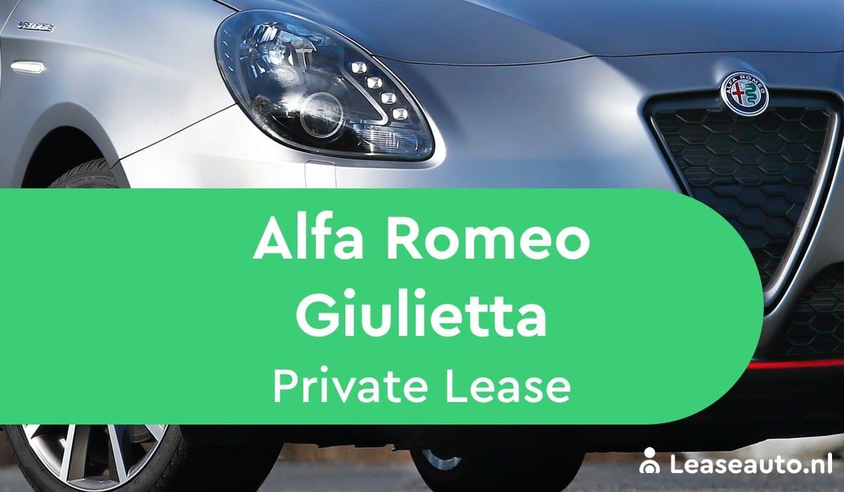alfa romeo giulietta private lease