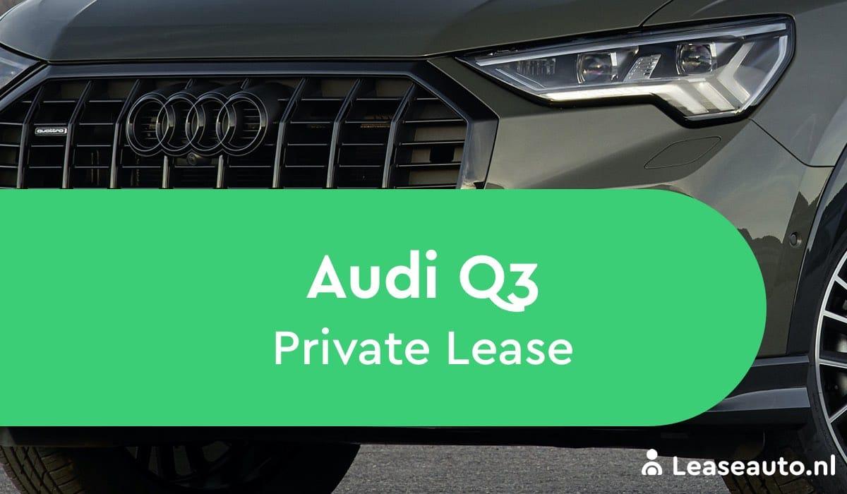 audi q3 Private Lease