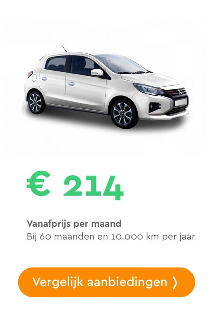 mitsubishi space star private lease aanbieding