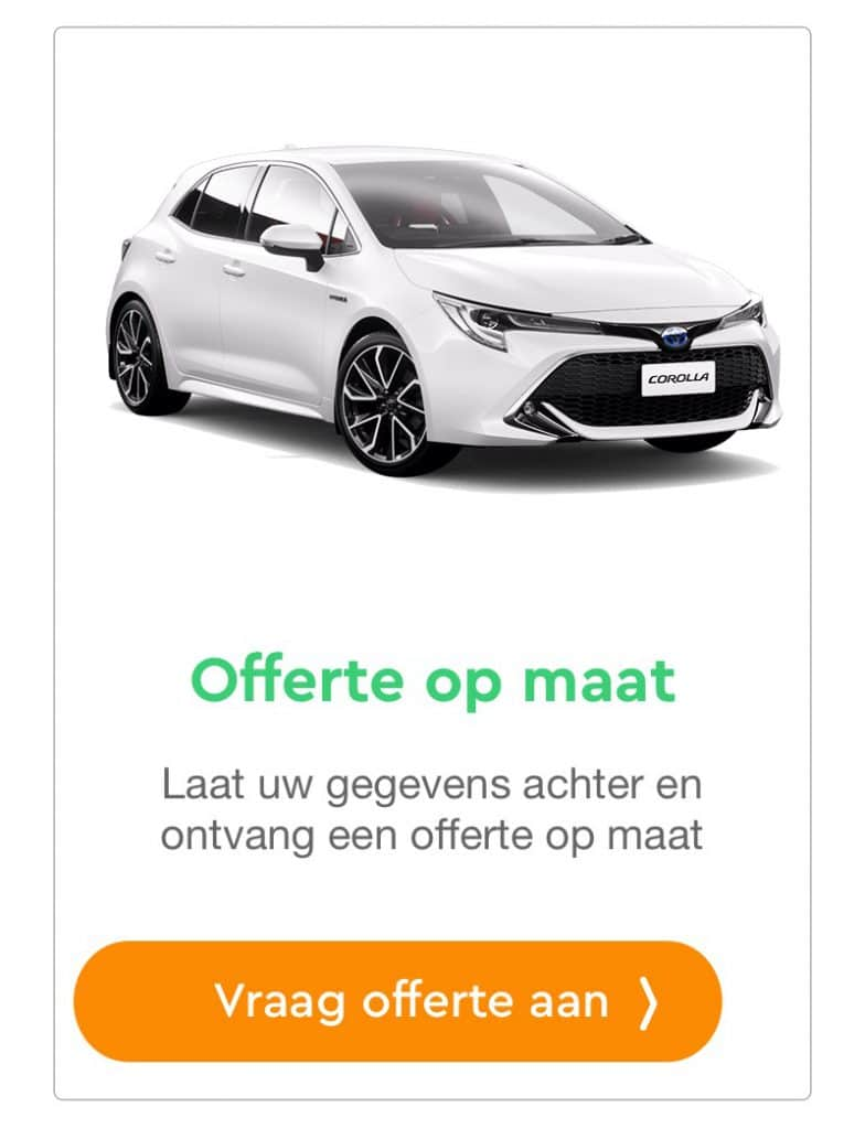 toyota corolla offerte aanvraag private lease
