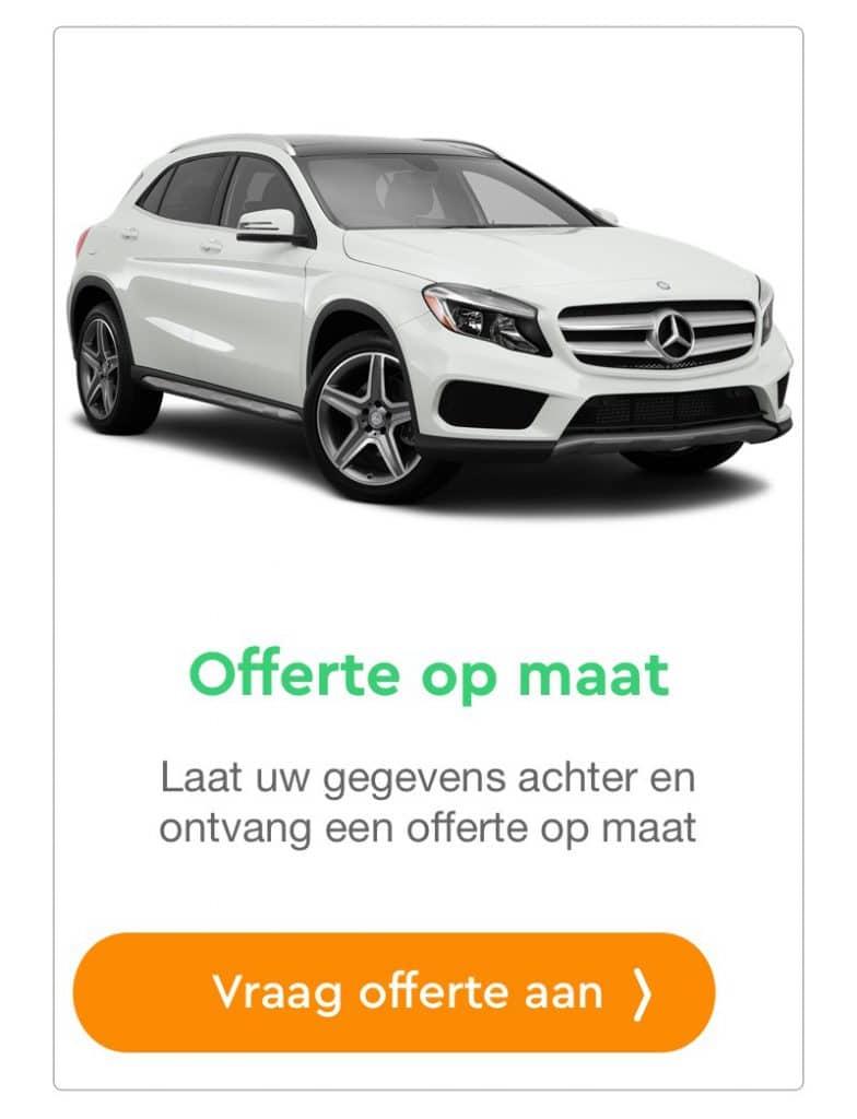 Mercedes GLA offerte aanvraag private lease