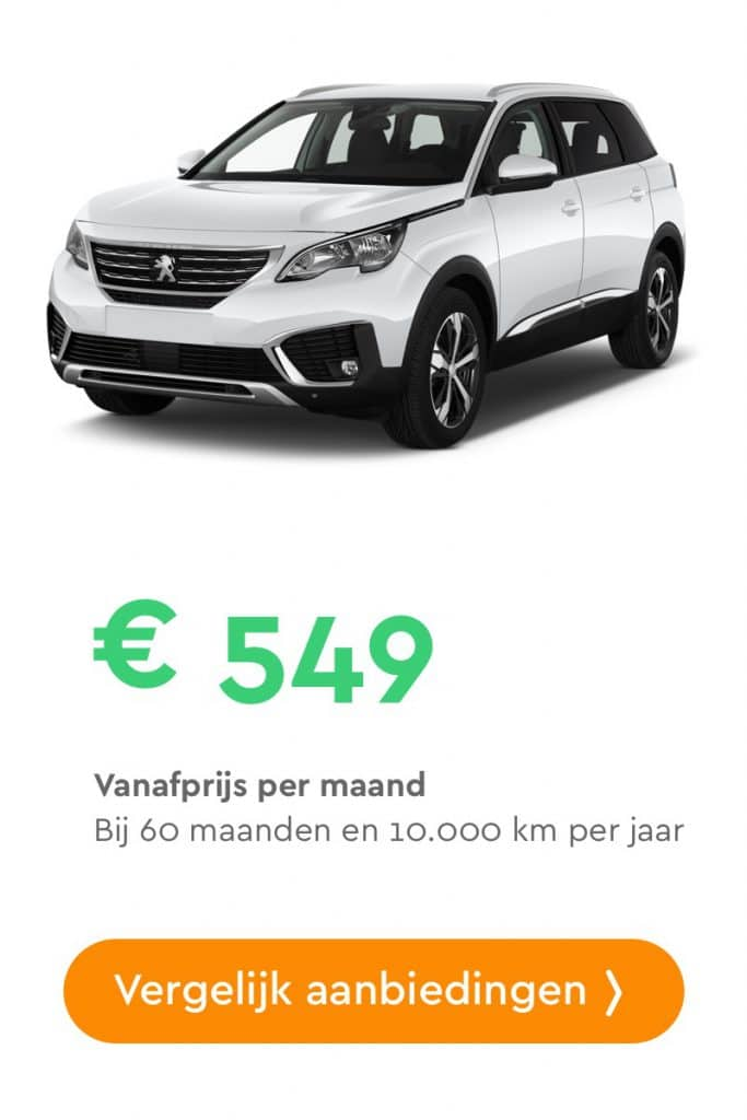 peugeot 5008 private lease aanbieding