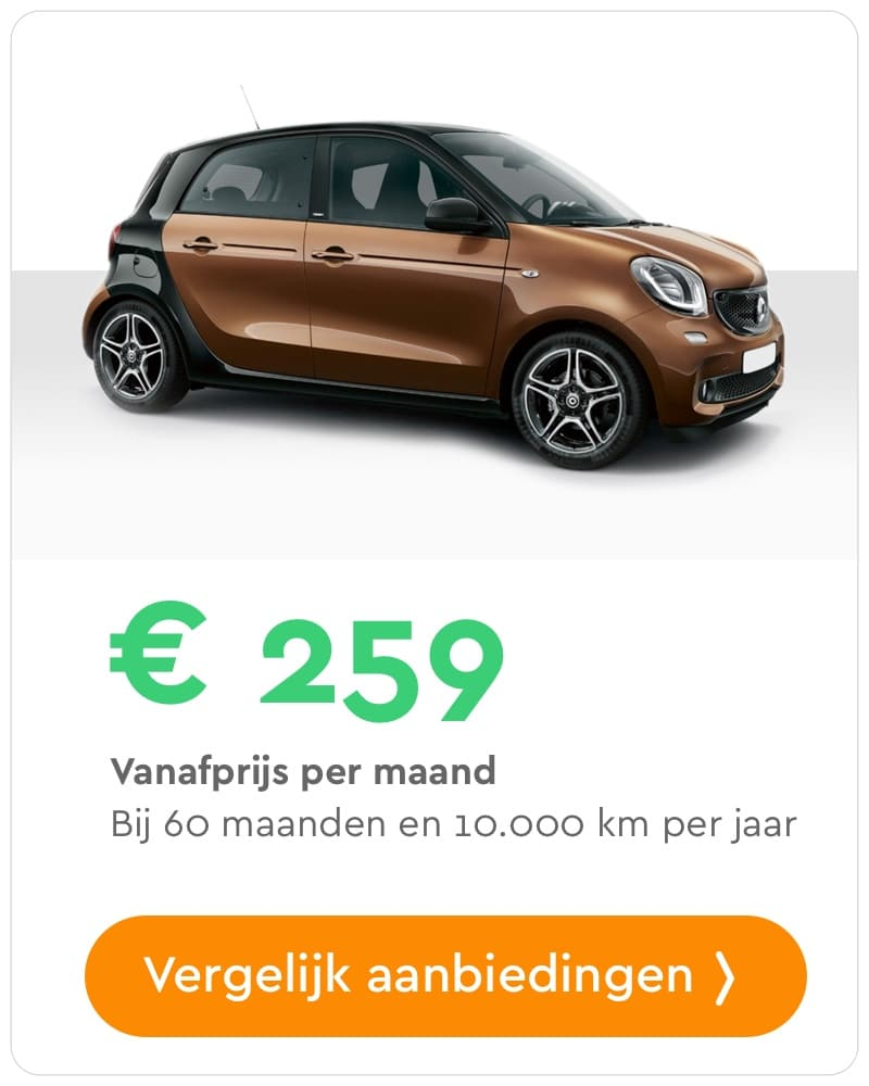 smart forfour private lease aanbieding