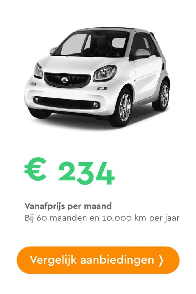 smart fortwo private lease aanbieding