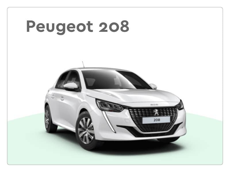 peugeot 208 private lease auto