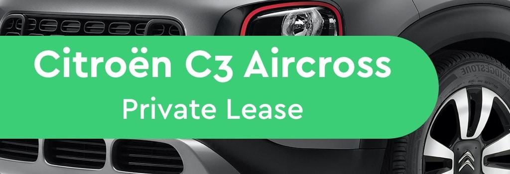 Citroën c3 aircross private lease