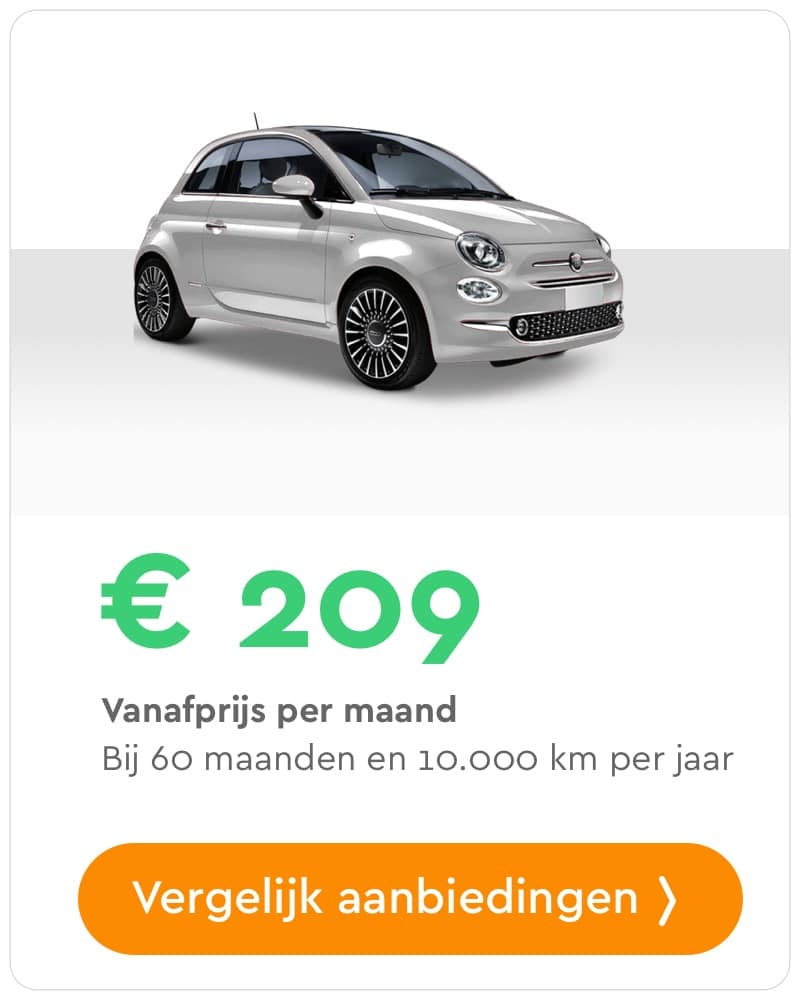 Fiat 500 private lease aanbieding
