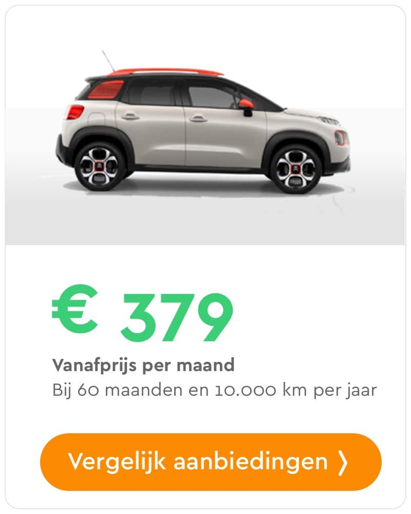 citroen c3 aircross private lease aanbieding