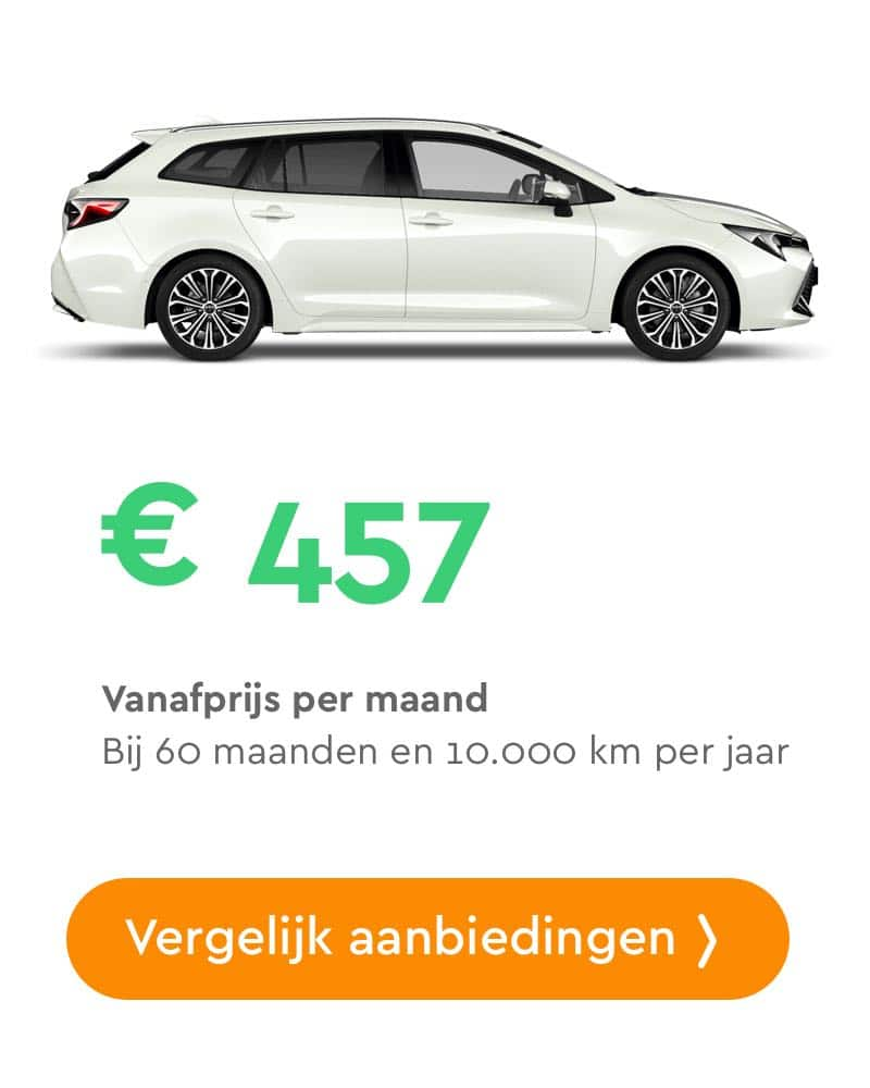 toyota corolla touring sports private lease aanbieding