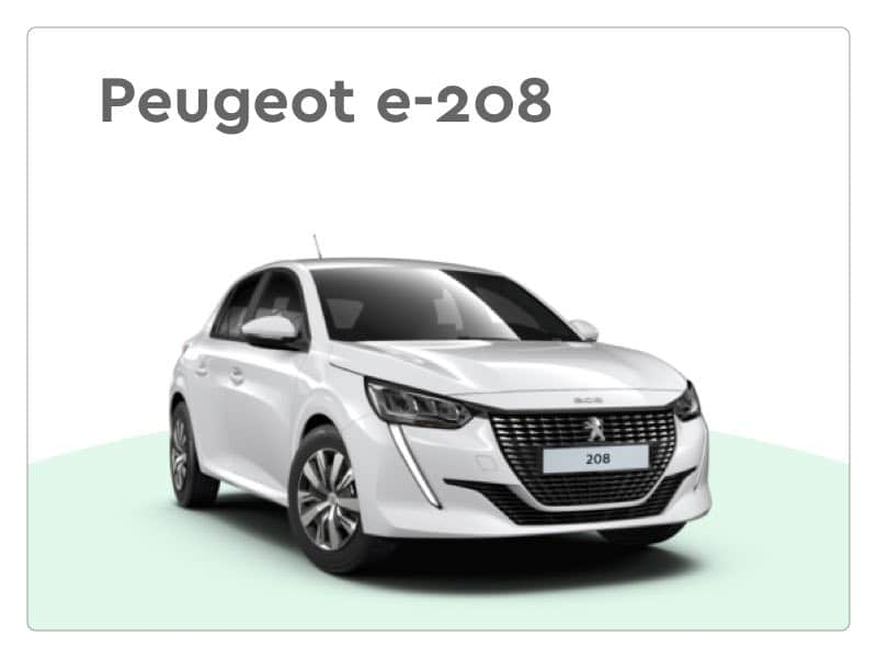 elektrische peugeot e-208 private lease auto