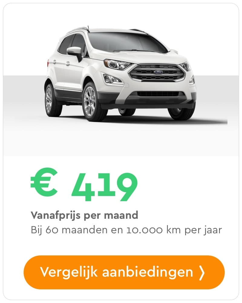 ford ecosport private lease aanbieding