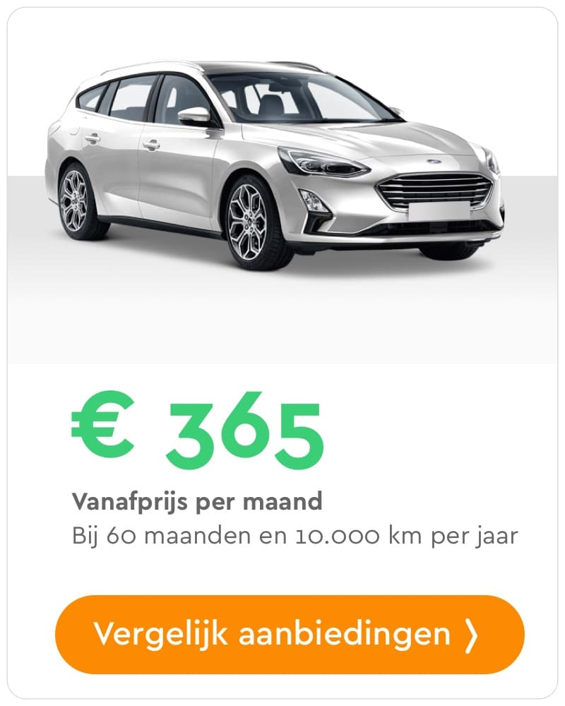 ford focus wagon private lease aanbieding