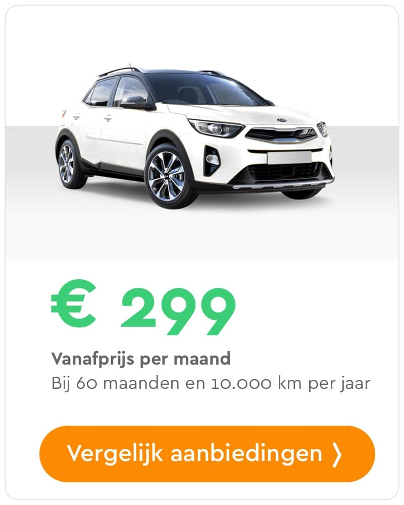 kia stonic private lease aanbieding