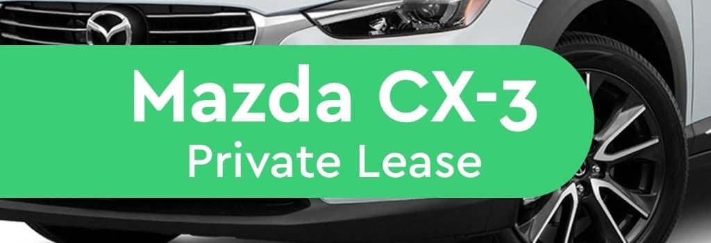 mazda cx-3 prive lease