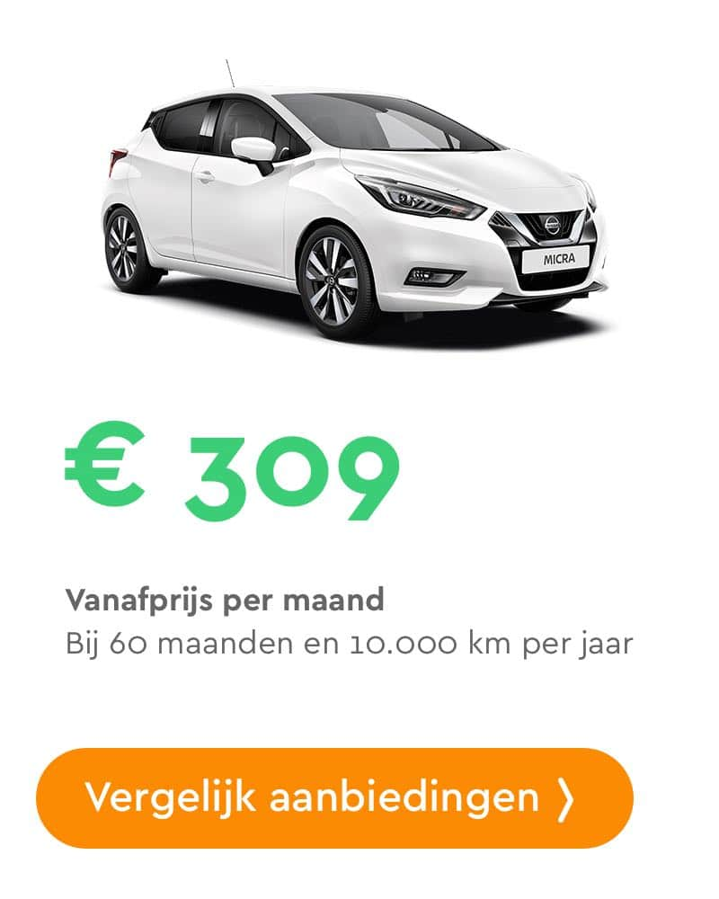 nissan micra private lease aanbieding