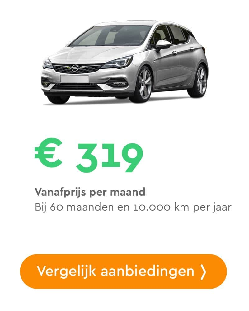 opel astra private lease aanbieding