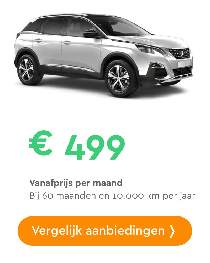 peugeot 3008 private lease aanbieding