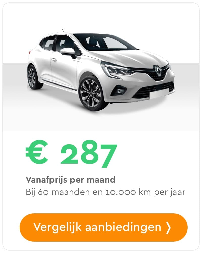 renault clio private lease aanbieding