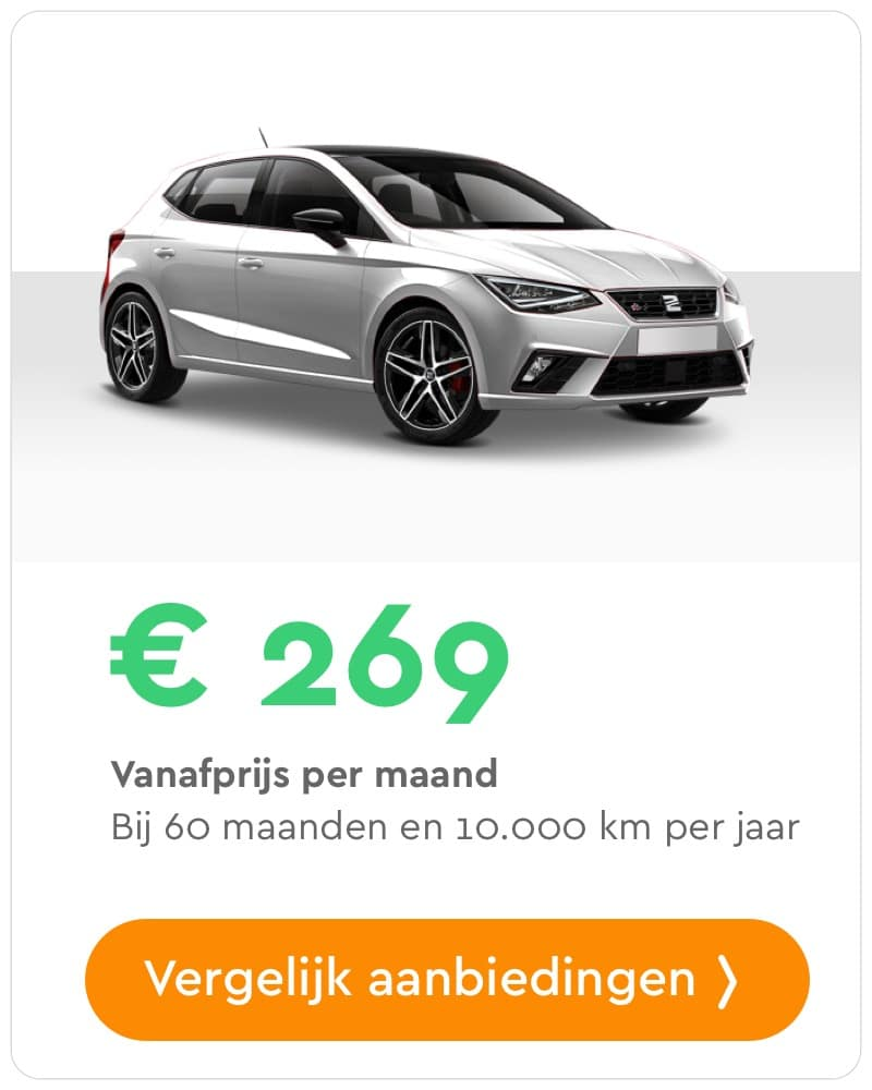 seat ibiza private lease aanbieding