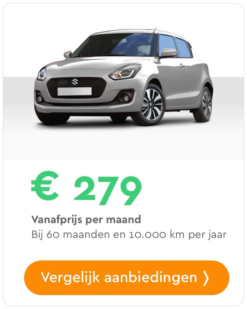 suzuki swift private lease aanbieding