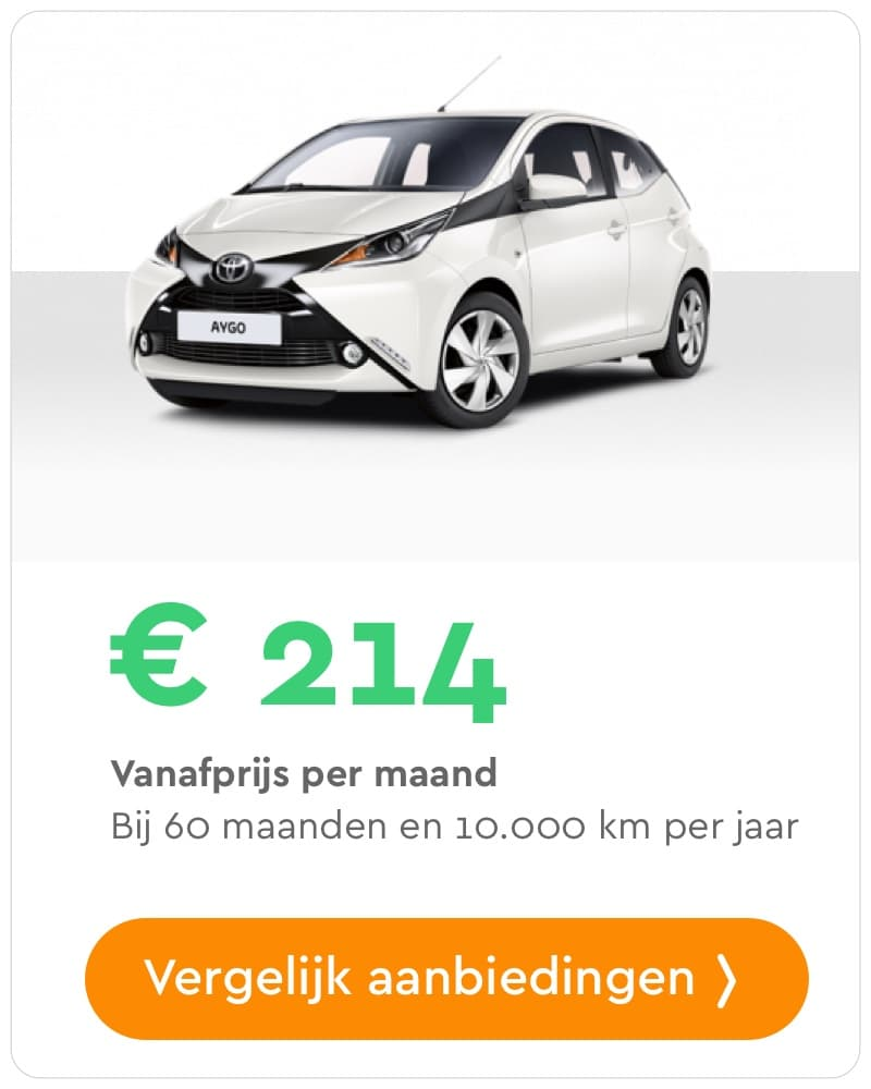 toyota aygo private lease aanbieding