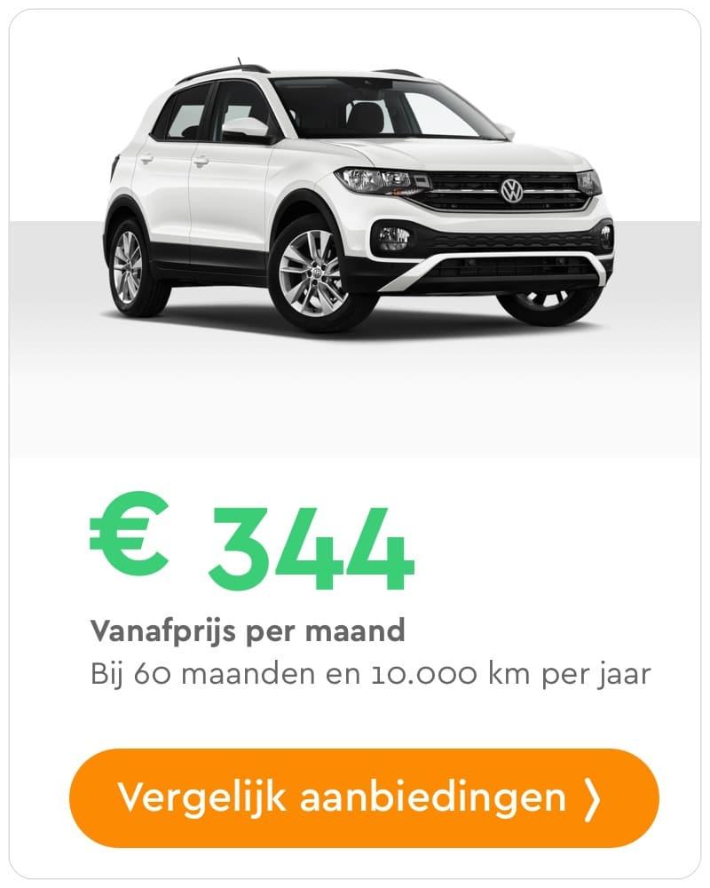volkswagen t-cross private lease aanbieding