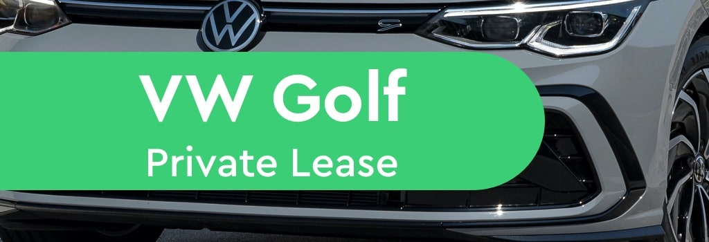 Volkswagen Golf VW private lease