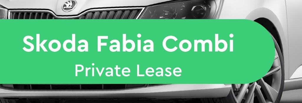 skoda fabia combi private lease