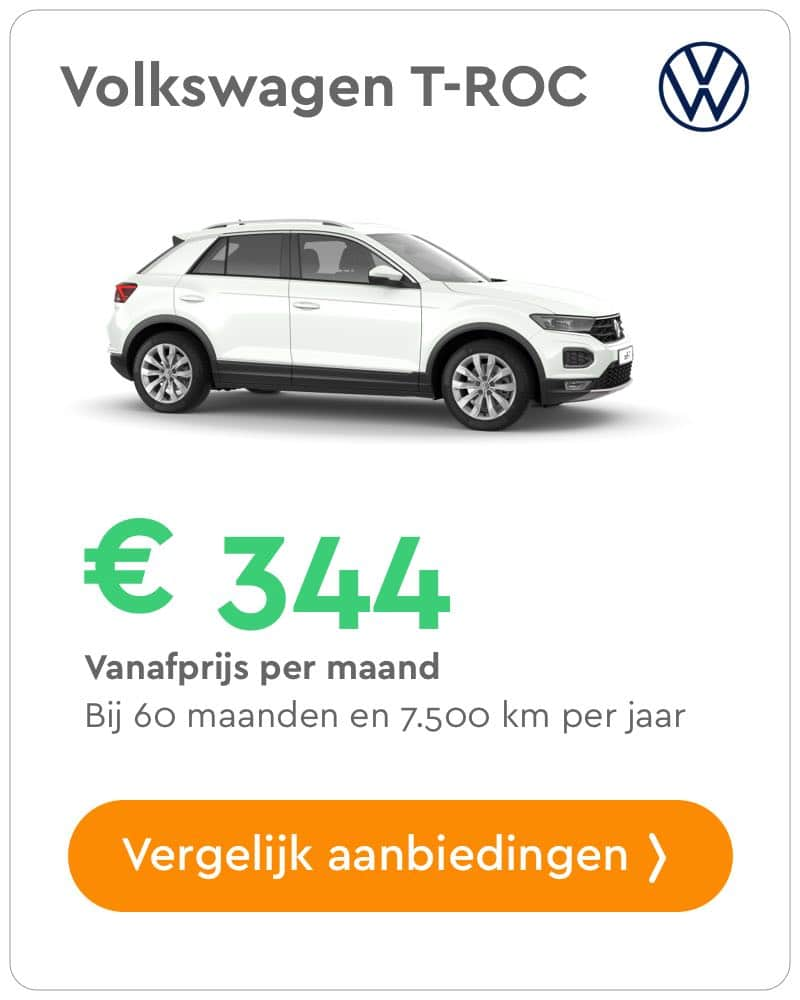 volkswagen t-roc private lease aanbieding
