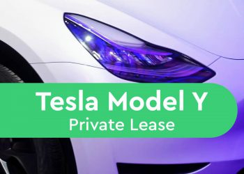 tesla model y private lease