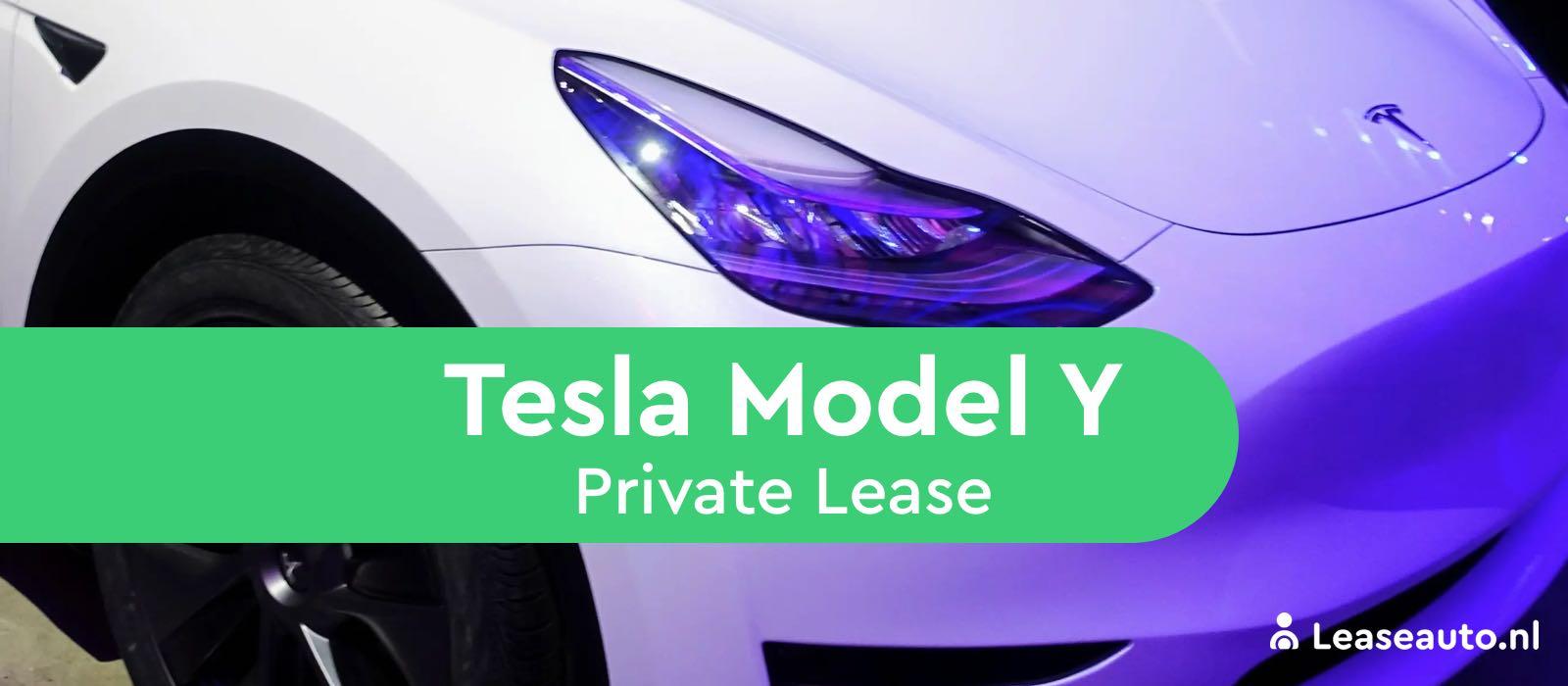 tesla model y private lease