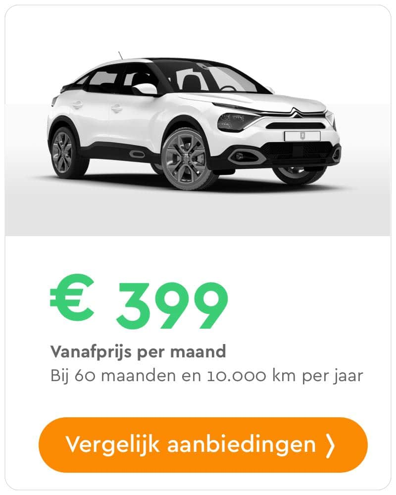 citroen c4 private lease aanbieding